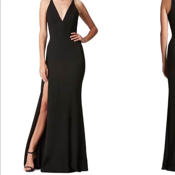 ca119b6b730 Dress the Population Dresses   Skirts - Dress the Population Iris Slit  Crepe Gown